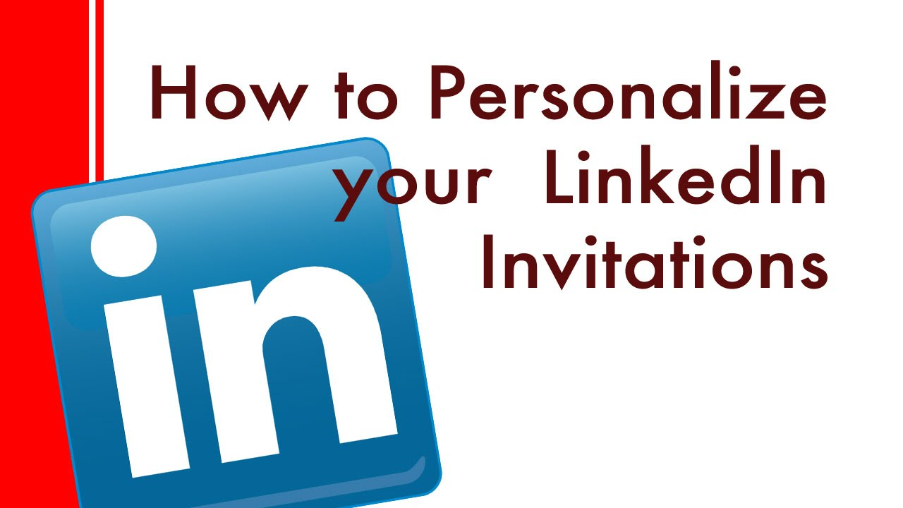 How to personalize a linkedin invite web and iphone app youtube how to personalize a linkedin invite web and iphone app stopboris Images