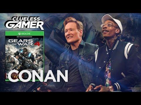 "Clueless Gamer: ""Gears Of War 4"" With Wiz Khalifa  - CONAN on TBS thumbnail"