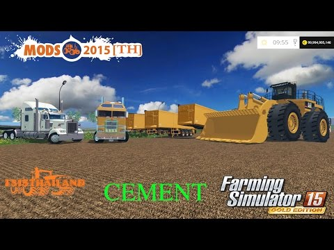 Farming Simulator 2015 #Map Pleasant Valley/Construction/CEMENT/Pass 1