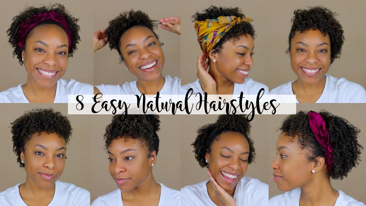 4 QUICK & EASY Hairstyles for Short/Medium Natural Hair 4  Perfect for  Type 4 Hair!!
