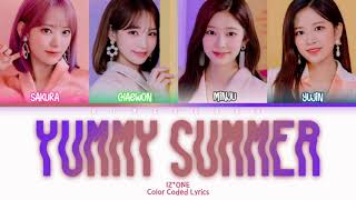[OFFICIAL VER.] IZ*ONE (アイズワン) - Yummy Summer Lyrics (Kan/Rom/Eng/Color Coded/Lyrics/歌詞) | bingsoosh