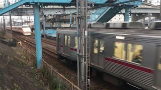 【すぺーしあ】東武100系 特急 スペーシア(サニーコーラルオレンジ)& 10000系@堀切駅