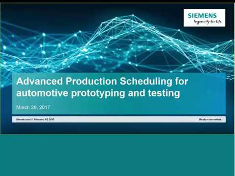 Advanced Production Scheduling for Automotive Prototyping and Testing
