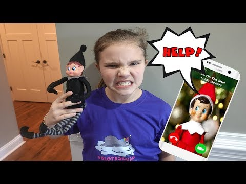 Save The Elf On The Shelf Part 2! Mean Elf On The Shelf Took Ellie!