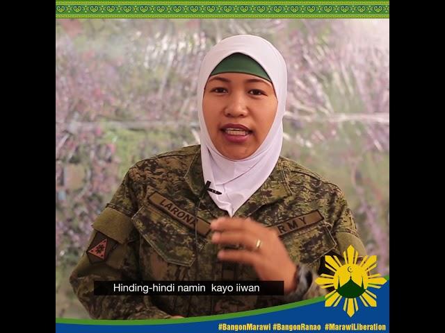 #MessageofPeace ni Sgt. Larona, Hijab Troope