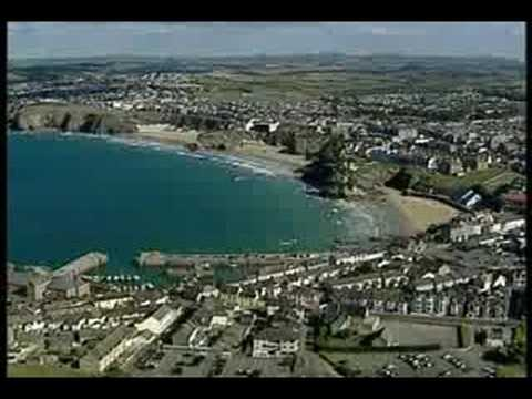 Newquay Beaches and the town from the air..