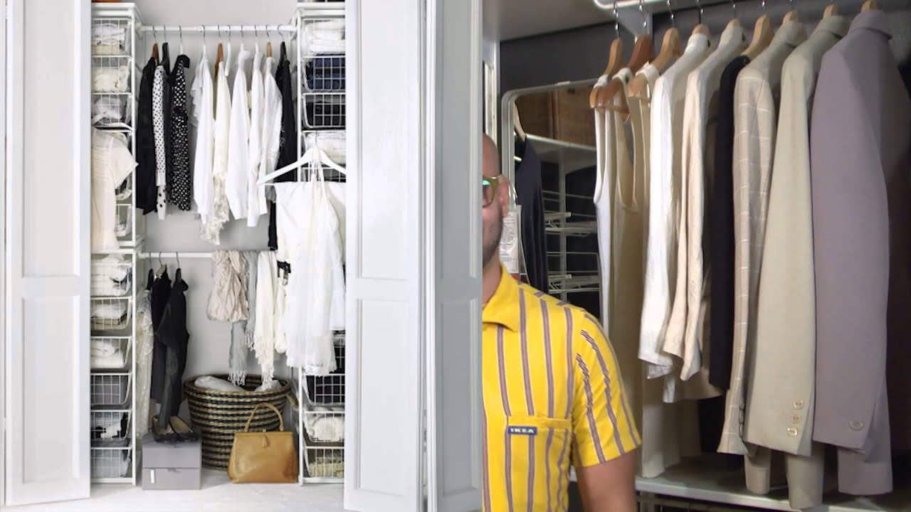 Youtube Closet Organization Part - 29: Ideas For Closet Storage - IKEA Home Tour - YouTube