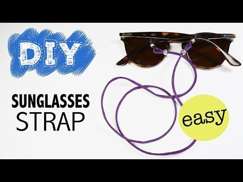 08b3f3eb848 DIY Sunglasses Strap - How to make an easy sunglasses neck cord holder