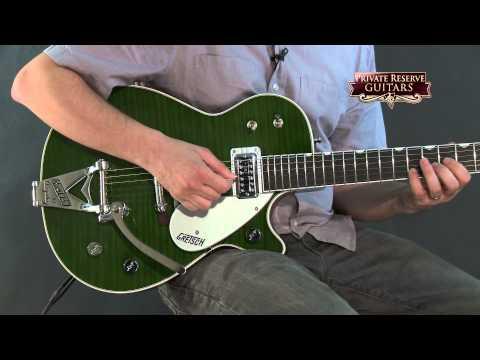 Gretsch Guitars G6128T-TVTAFTB Power Jet Electric Guitar Transparent Green
