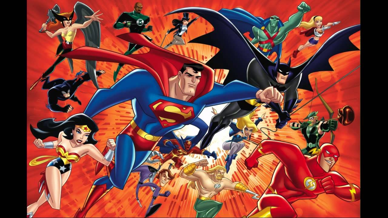 Avengers Animated Wallpaper Justice League Unlimited Theme 1100 Slower Youtube