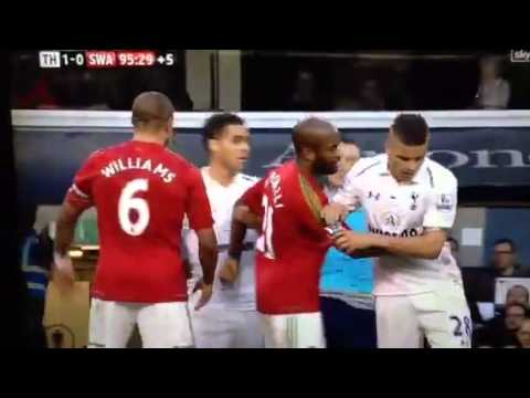 Michu Knocked Out By Lloris