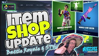 🏆MenamesCho's LIVE 🔵 WORLD CUP SKINS 🌍 ITEM SHOP UPDATE 🏆 Fortnite Battle Royale 25th July 2019
