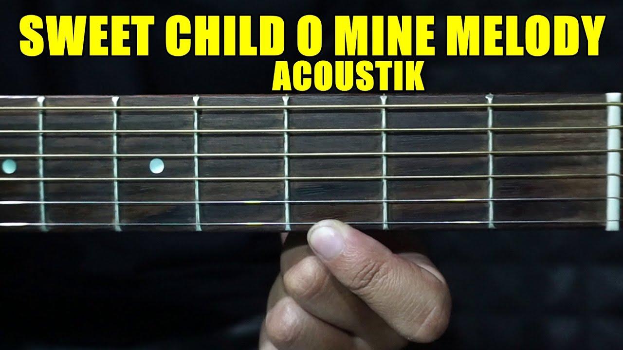 TUTORIAL Melodi Sweet Child O Mine Intro Akustik GNR | ajang fingerstyle