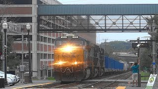 Long CSX Mixed Freight Train In Gaithersburg, MD