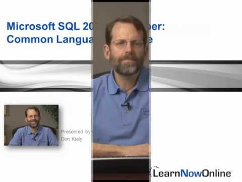 "Trailer for SQL 2012 Developer tutorial: ""Common Language and Runtime"""