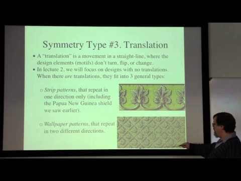 Ethnomathematics Lecture 1: Geometric Designs & Symmetries