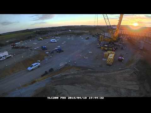 A47 Postwick bridge construction time lapse