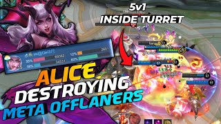Alice Offlane Meta is Real & It is So OP | The Side Lane Carry | MLBB
