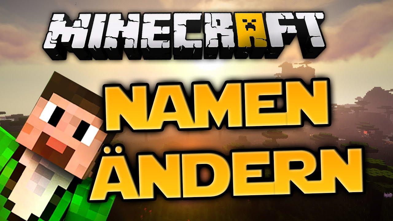 MinecraftNamen ändern YouTube - Namen andern minecraft multiplayer