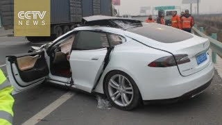 Shocking footage: Fatal Tesla crash in China triggers suspicion of auto-drive