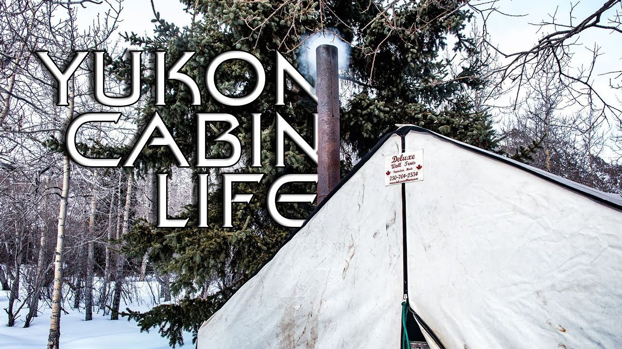 Winter Camping in a Canvas Tent - Yukon Cabin Life - E.3 - Remote Hot Tent Set-Up  in the Mountains