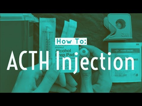 How to give an ACTH injection in an Infant | ACTHAR