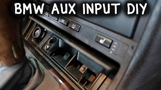 How To Install An Aux Input On BMW E46