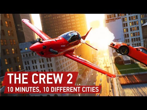 The Crew 2 Gameplay: 10 Minutes, 10 Different Cities