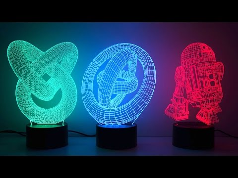 3D illusion novelty LED lamps