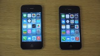 iPhone 4S iOS 8 Beta 4 vs. iPhone 4S iOS 7.1.2 - WHICH IS FASTER?