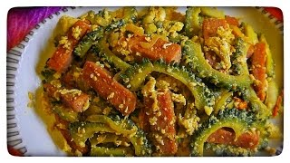 Ampalaya at Itlog with Luncheon Meat