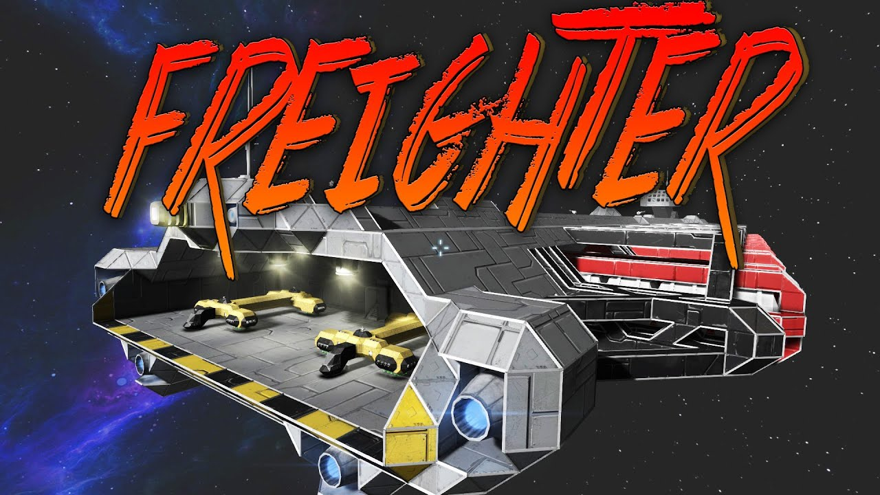 Space Engineers Gameplay Cargo Freighter Youtube