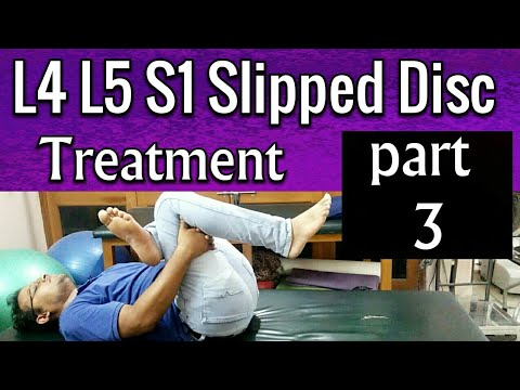L4 L5 S1 Slipped Disc Treatment - EXERCISES To Cure Slipped Disc Completely  At Home PART 3