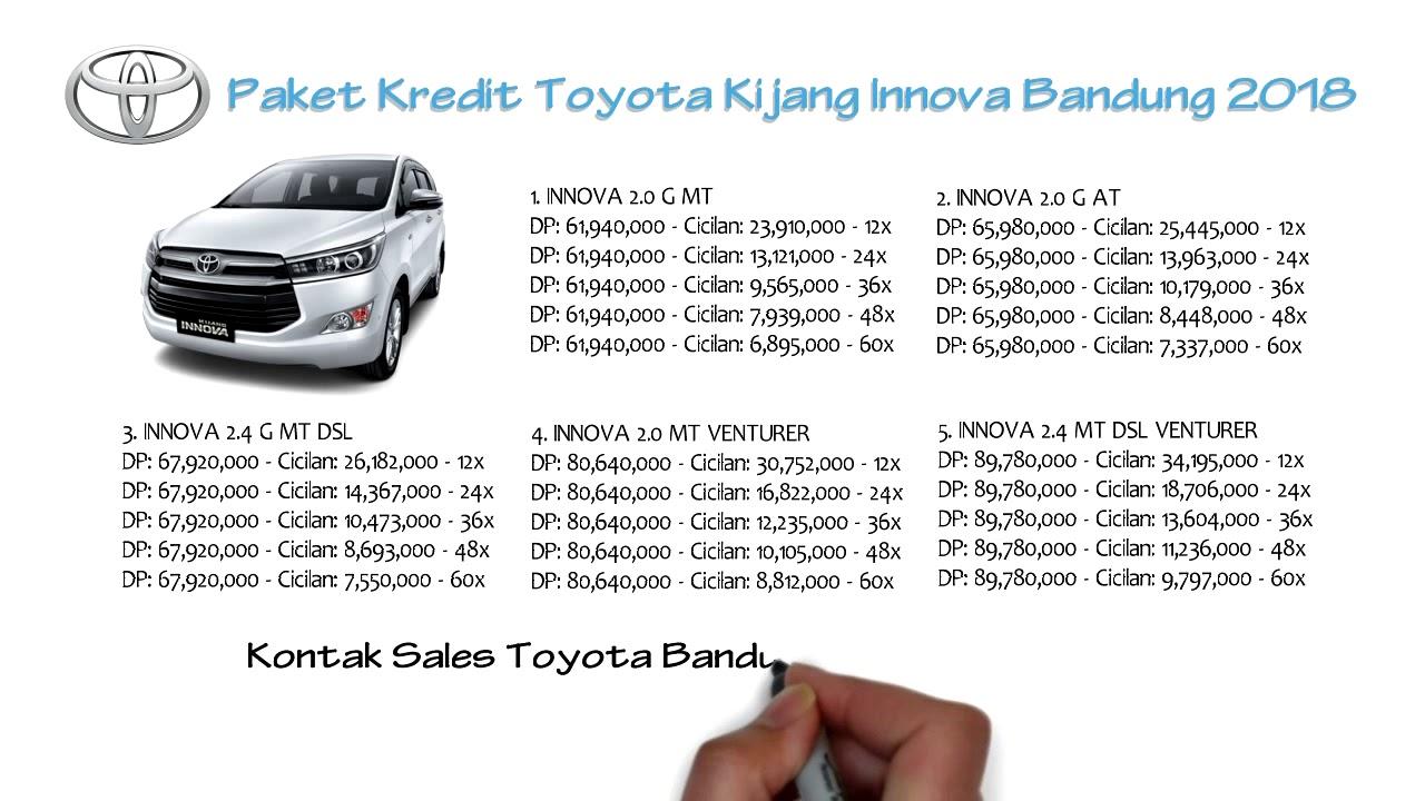 Cicilan All New Kijang Innova Camry 2018 Review Kredit Toyota Bandung Oktober 081221120026