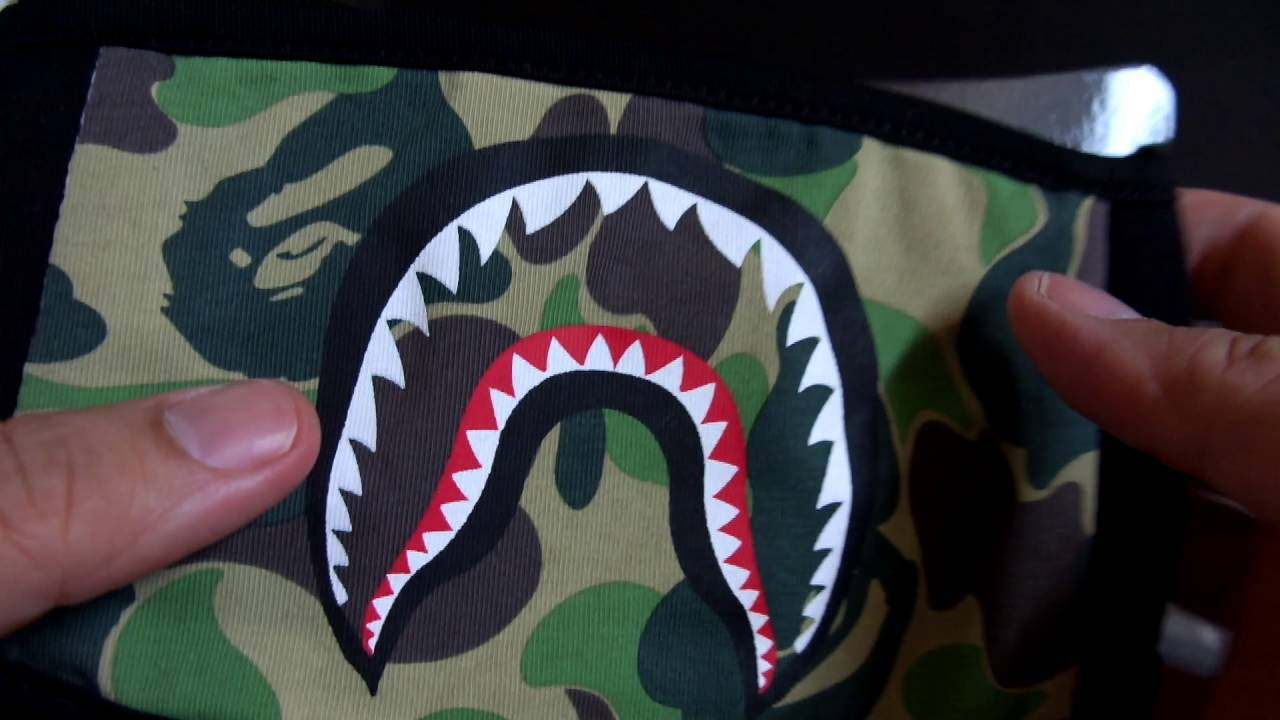 Bathing Ape BAPE Shark Face ABC Camo Black Mask Unboxing Review