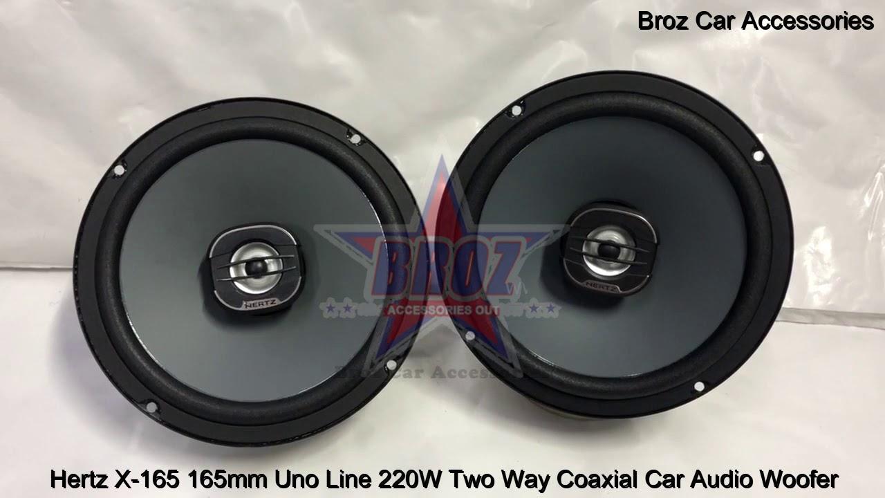 """Renault Trafic Front Door Speaker Upgrade Kit Hertz UNO Coaxial 220w 165mm 6.5/"""""""