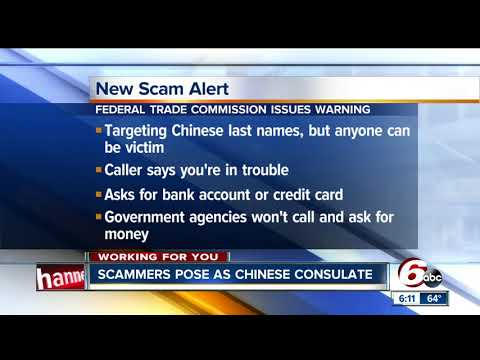 Federal Trade Commission warns of new scam from 'Chinese Consulate'
