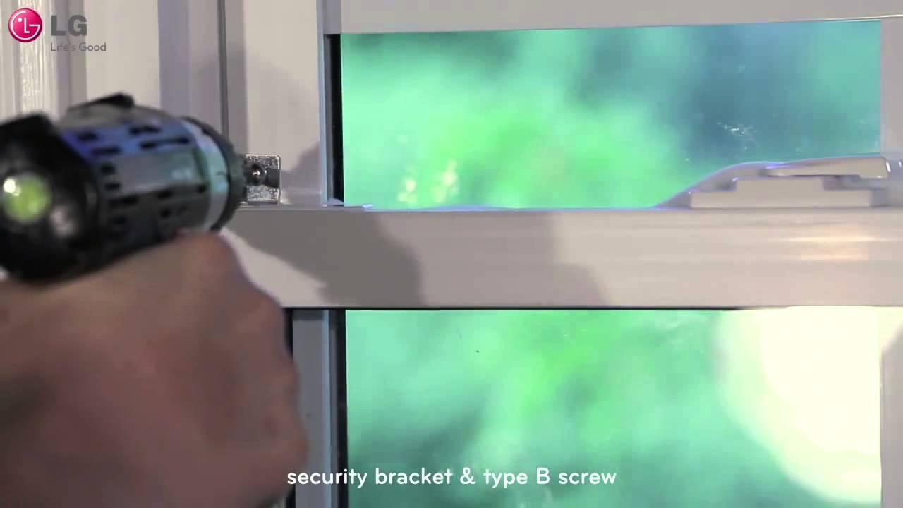 Conoce cómo instalar tu Aire Acondicionado de Ventana LG - YouTube