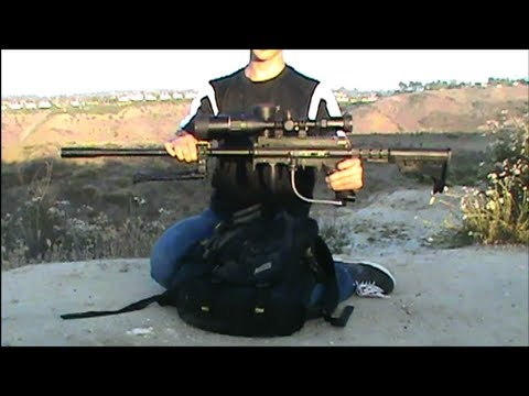 Paintball Sniper (NEW Scope!) Test shoot #1
