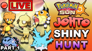 POKEMON SHINY HUNTING - SHINY JOHTO GEN 2 LIVESTREAM PART 1 - SUN MOON/POKEMON GO UPDATE