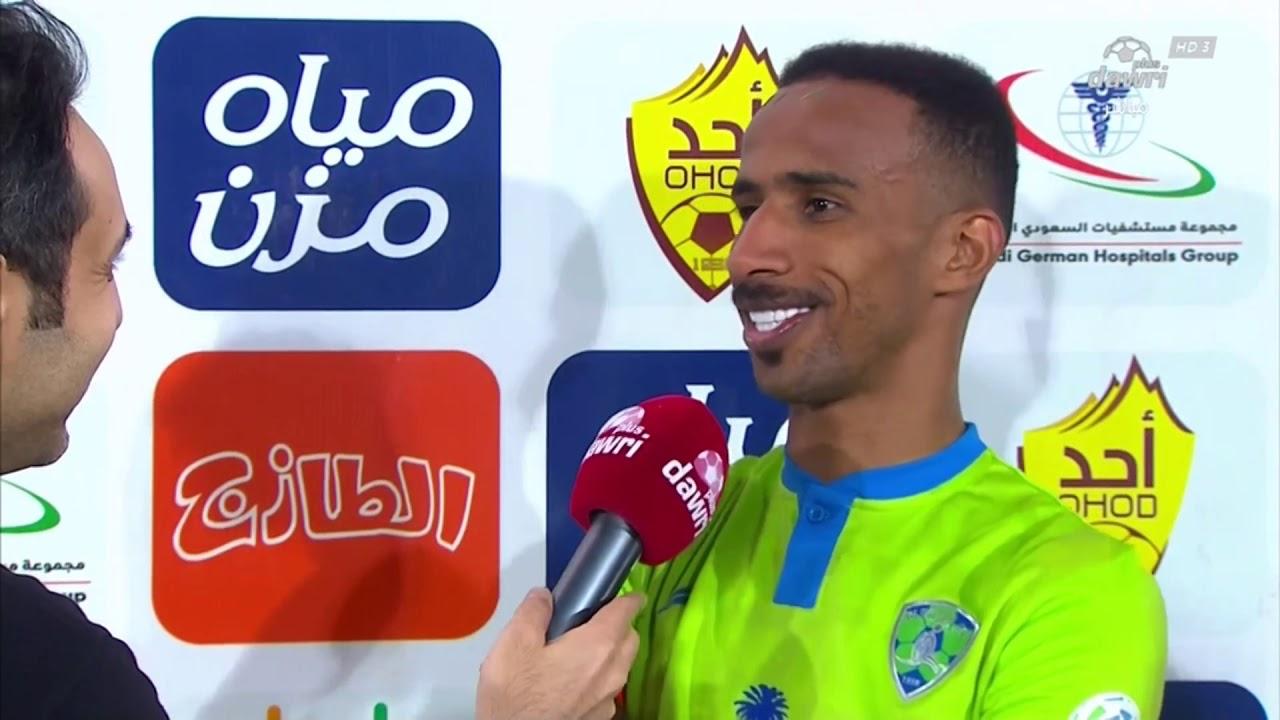 لاعب الفتح محمد الفهيد: لم نظهر بصورة جيدة مثل المباريات السابقة