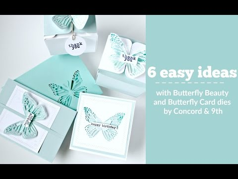 Butterfly Card Dies by Concord & 9th  ( Butterfly Stamps)
