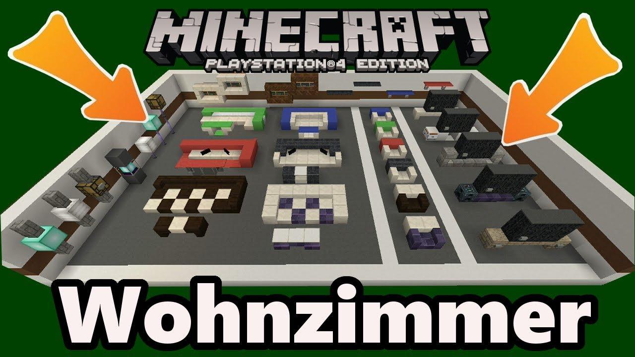 Minecraft wohnzimmer einrichtung deko designs gegenst nde youtube - Minecraft wohnzimmer ...