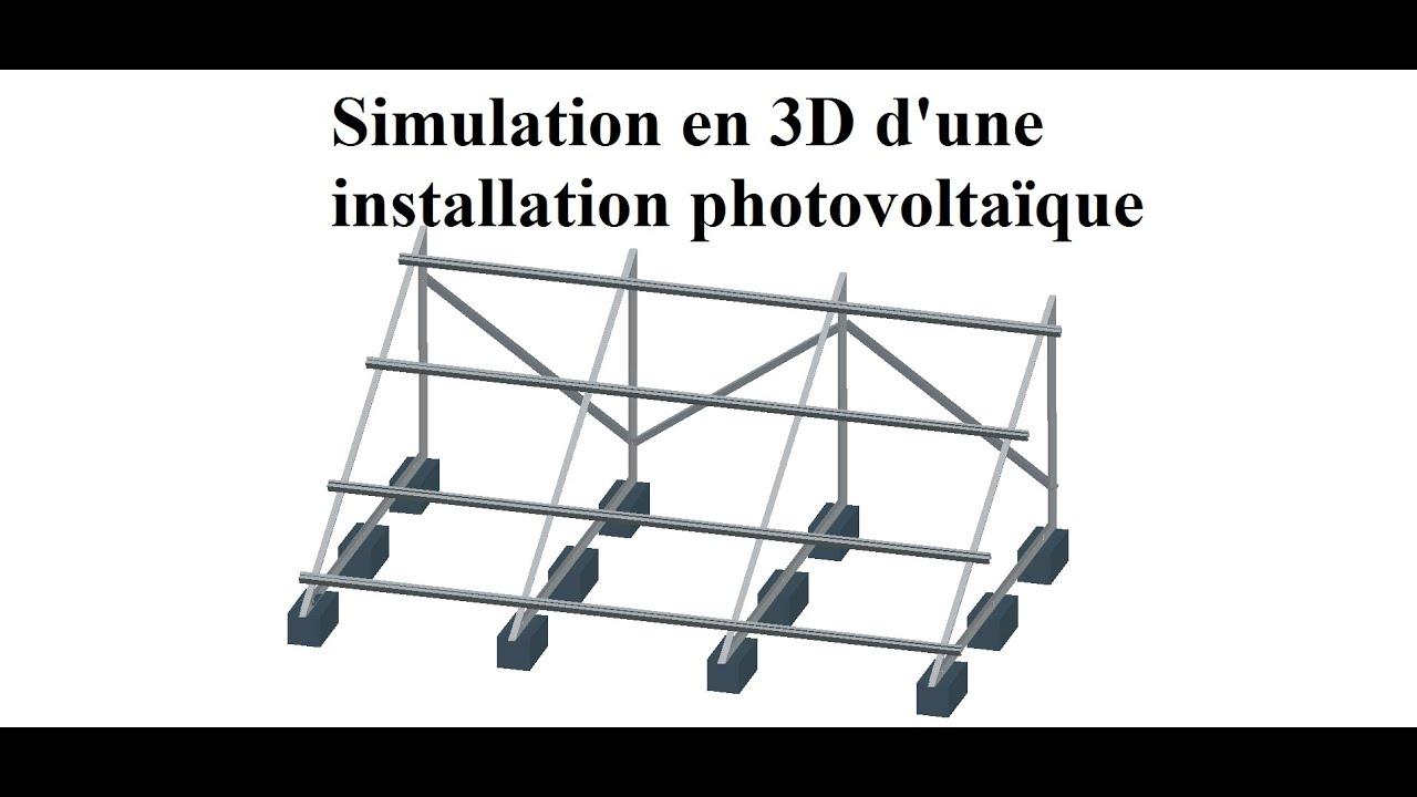 Simulation En 3d D Une Installation Photovoltaique