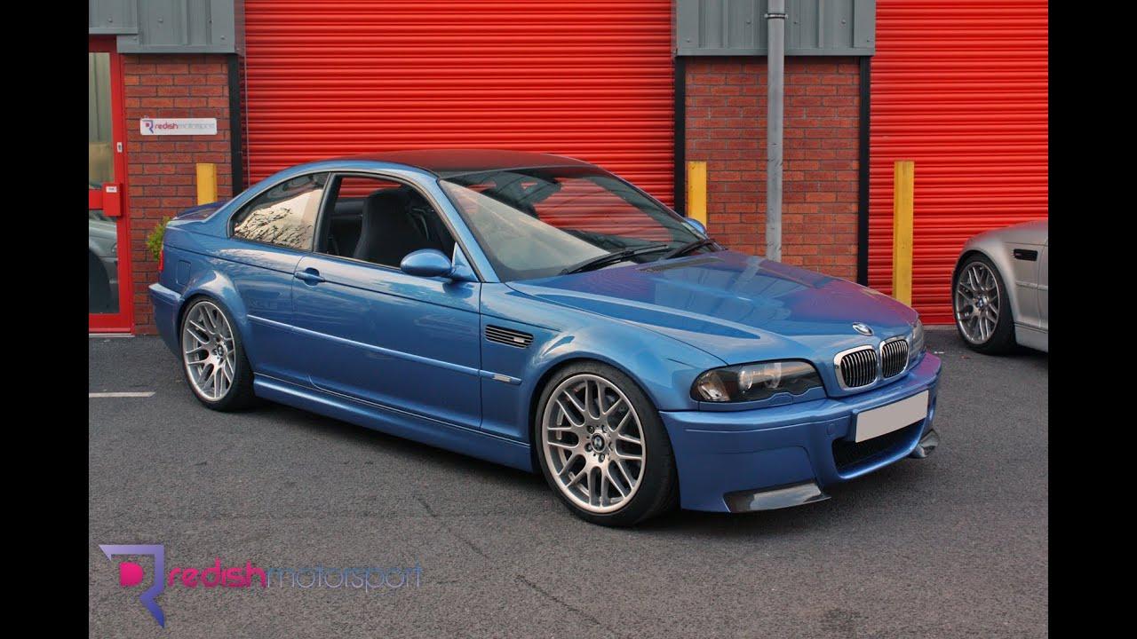 Bmw E46 M3 Csl Manual Estoril Blue Built By Redish Motorsport