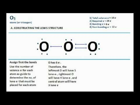 O3 - Ozone Lewis Structure and Molecular Geometry - Bent ...