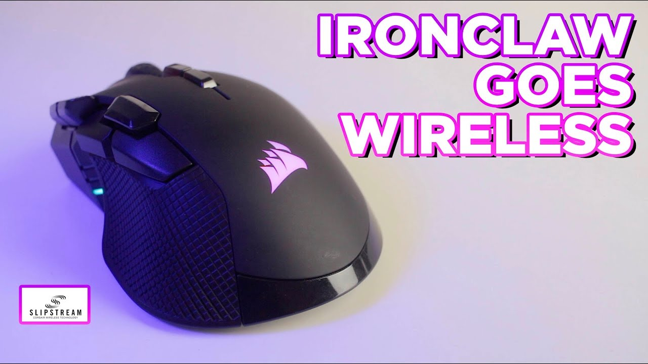 Corsair IronClaw RGB Wireless Gaming Mouse - hits the SLIPSTREAM!