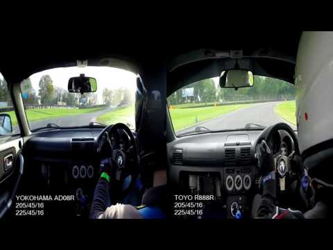 Tyre Comparison Test - Yokohama AD08R vs Toyo R888R at Brands Hatch Indy Circuit