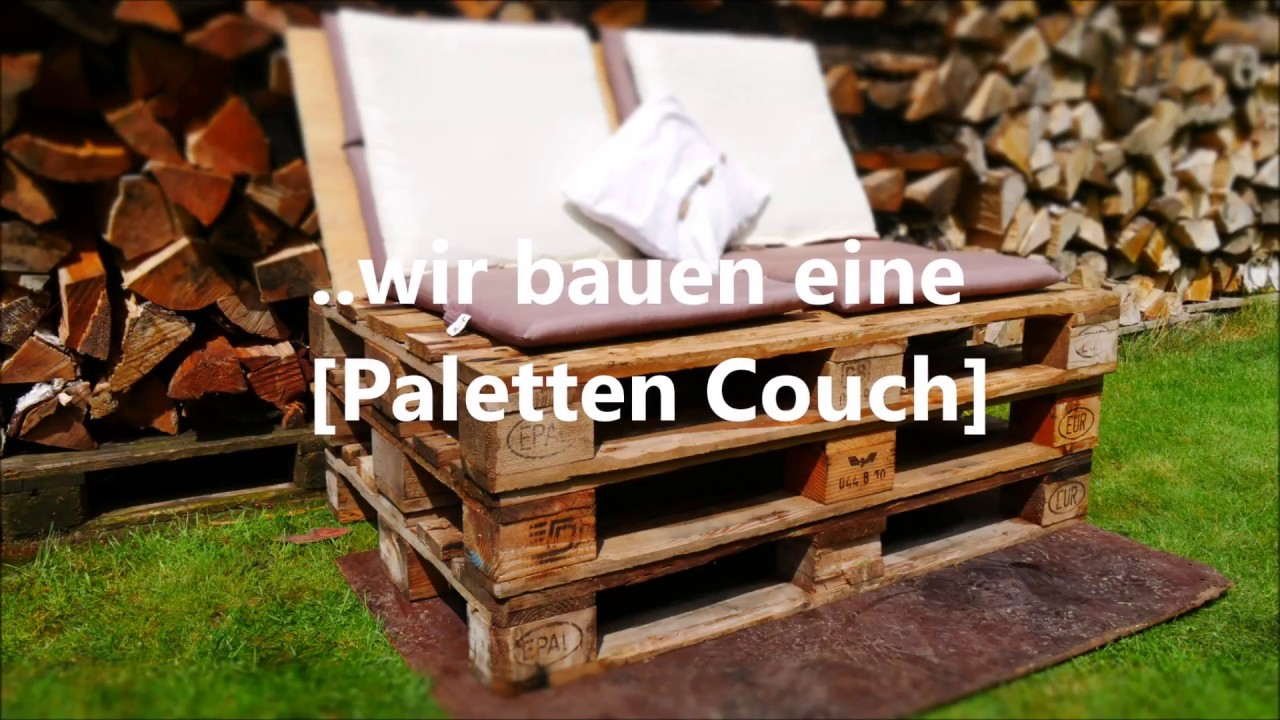 diy wir bauen eine einfache paletten couch youtube. Black Bedroom Furniture Sets. Home Design Ideas