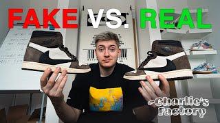 FAKE VS. REAL - AIR JORDAN 1 TRAVIS SCOTT (jak poznat fake?)